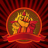 Fist emblem. Illustration of clenched fist Royalty Free Stock Image