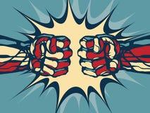Fist fight. Stock Photos