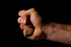 Fist - fight concept royalty free stock photos