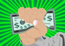 Fist full of cash royalty free illustration