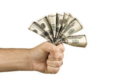 Fist Full of Dollars Royalty Free Stock Photos