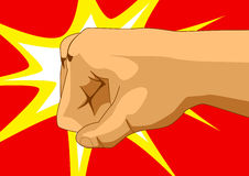 Fist Of Fury. Illustration of a punching fist Royalty Free Stock Photography