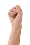 Fist gesture Royalty Free Stock Photo