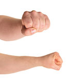 Fist gesture isolated Stock Photo