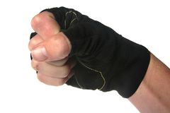 Fist with Glove isolated. Fist with fighting glove ready to punch isolated stock image
