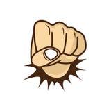 Fist hand cartoon Stock Photography