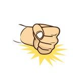 Fist hand cartoon Royalty Free Stock Photo