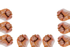 Fist or hand clenched isolated on white background Stock Photo