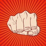 Fist Hand Draw Sketch. Vector Stock Images