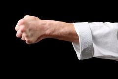 Fist. Hand fighter karate Royalty Free Stock Photography