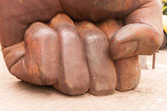 Fist, hand and fingure,statue at 798 street,Beijing on 25 May 2013 Royalty Free Stock Photos