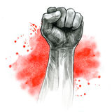 Fist hand gesture royalty free illustration