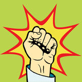 Fist hand pop art style vector Royalty Free Stock Images