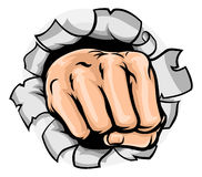 Fist Hand Punching Hole Royalty Free Stock Photos