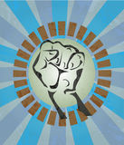 Fist, hand, revolution, strike Royalty Free Stock Image