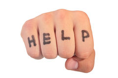 Fist - Help Stock Image