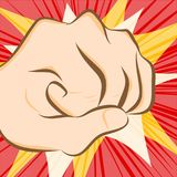 Fist hit abstract background Stock Photo