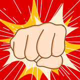 Fist hit. Hand draw fist hit Royalty Free Stock Image