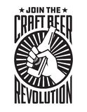 Craft Beer Revolution vector badge or label design. Royalty Free Illustration