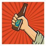 Craft Beer Revolution vector badge or label design. Vector Illustration