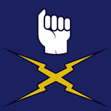 Fist icon (vector). Fist icon (vector in CMYK mode). Fist and rays Stock Photography