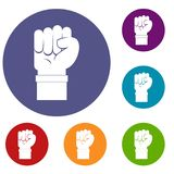 Fist icons set Royalty Free Stock Photography