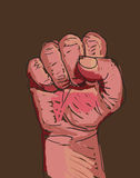 Fist. Illustration of a clenched fist Stock Photography