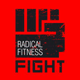 Fist image. Fight, radical fitness. Vector illustration Stock Images