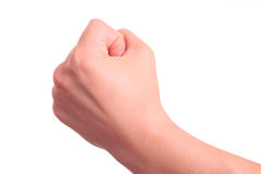 Fist isolated. Stock Image