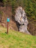 Fist of Janosik, Natural Monument, Slovakia Royalty Free Stock Photos