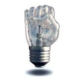 Fist Light bulb. Isolated on white vector illustration
