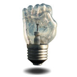 Fist Light bulb Stock Photos