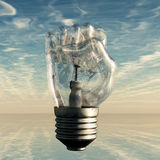 Fist Lightbulb Stock Image
