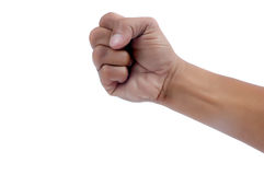 Fist of a man Stock Photo