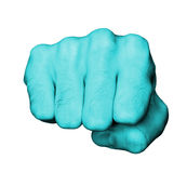 Fist of a man punching Royalty Free Stock Images