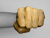 Fist of a man punching Royalty Free Stock Photo