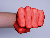 Fist of a man punching Royalty Free Stock Photos