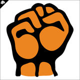 Fist. martial arts emblem, symbol. Vector. Royalty Free Stock Images