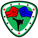 Fist. martial arts emblem, symbol. Vector. Royalty Free Stock Photography