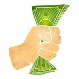Fist with money Stock Photography