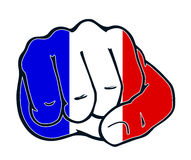 Fist nation fight france Royalty Free Stock Image