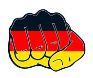 Fist nation fight germany. Fist with colors of the country Stock Photos