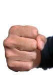 Fist Over White Royalty Free Stock Image