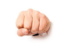 Fist from paper Royalty Free Stock Image