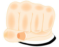 Fist of the person on white Royalty Free Stock Image