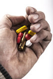 Fist of Pills Stock Images