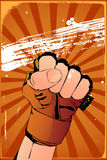 Fist poster Royalty Free Stock Photo