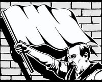 Fist protest strike revolution graffiti vector Stock Photo