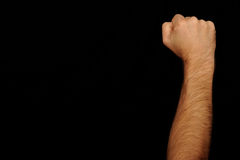Fist raised in the air Royalty Free Stock Image