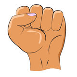 Fist raised up. Part of the body. Vector illustration. Royalty Free Stock Photos